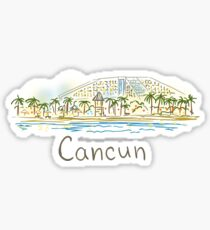 Cancun Panorama at night Sticker