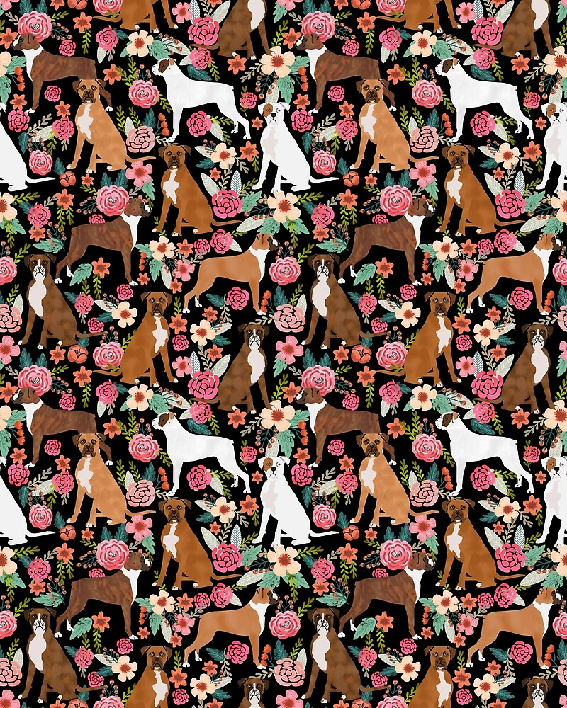 Boxer floral dog breed gifts boxer dogs must have boxers pet lover by boxerbrigade