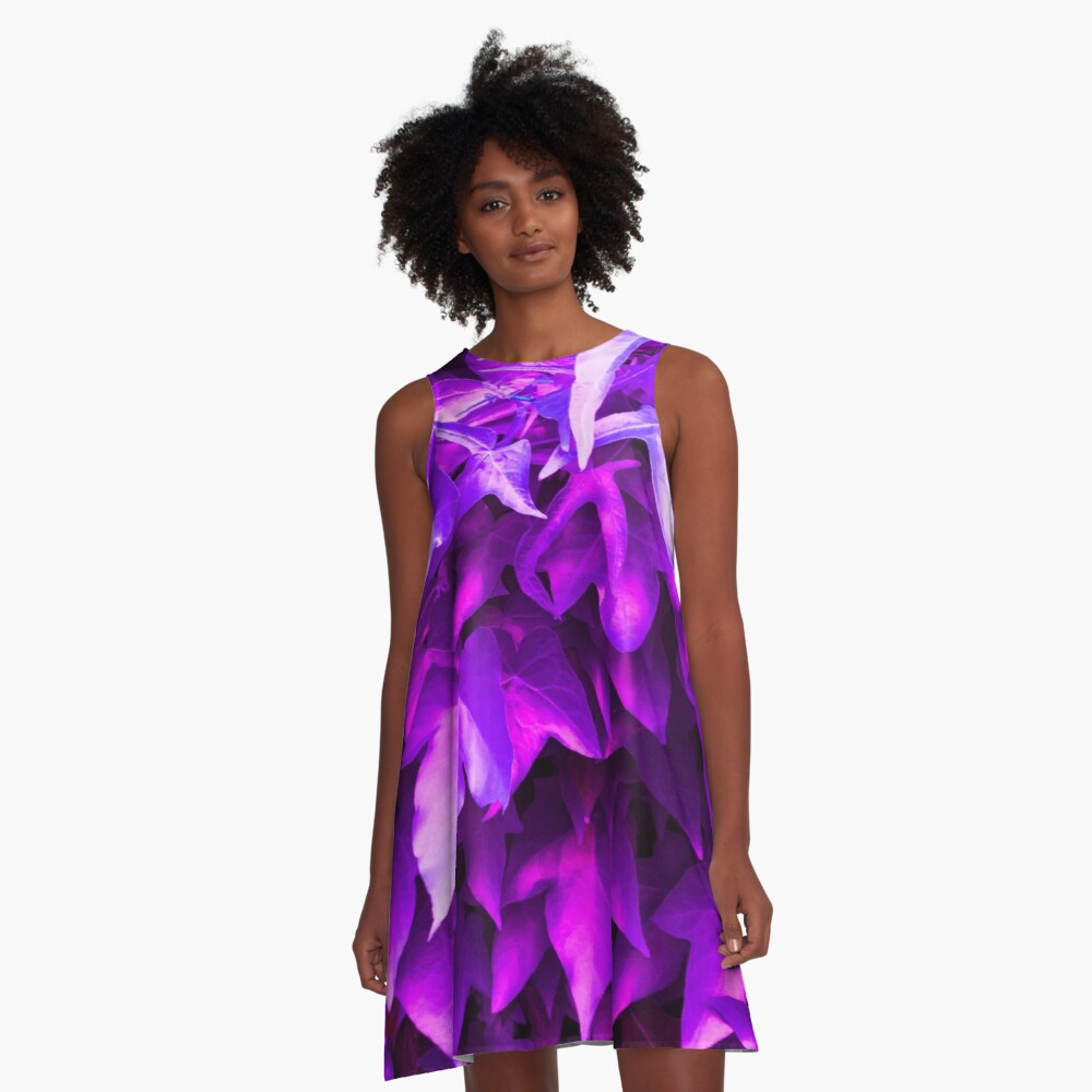 IVY (Hedera) > Purple A-Line Dress Front