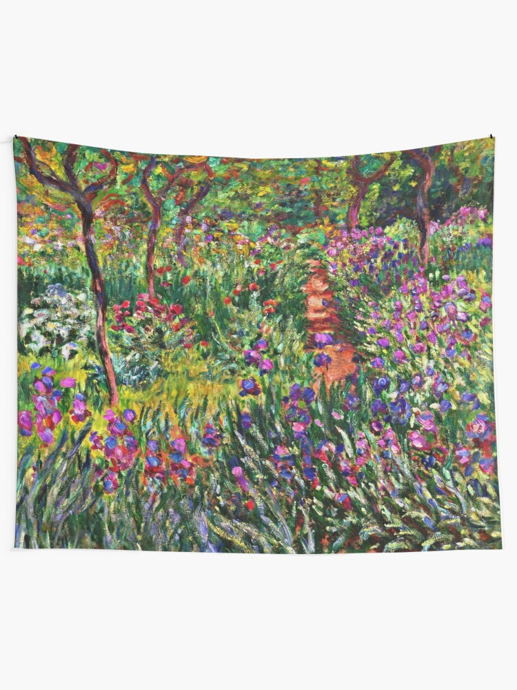 Monet The Iris Garden At Giverny Tapestry By Virginia50 Redbubble