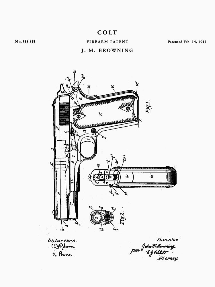 Colt Patent Print Blueprint Gun by Vintago