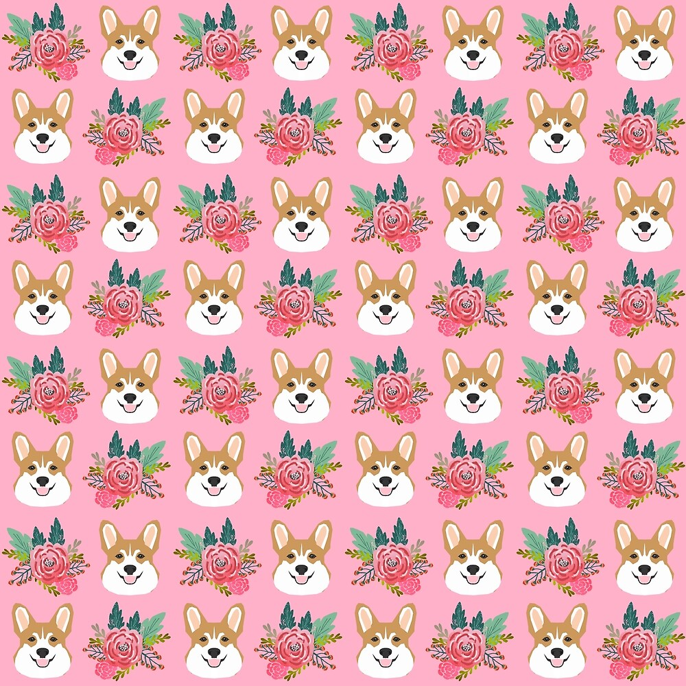 Corgi face floral bouquet cute dog breed gifts for welsh corgi lovers must haves by Corgicrew
