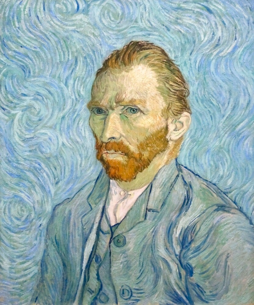 Original Vincent Willem van Gogh Impressionist Art Painting Restored Self-Portrait September 1889 by jnniepce