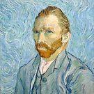 Original Vincent Willem van Gogh Impressionist Art Painting Restored Self-Portrait September 1889 by jnniepce