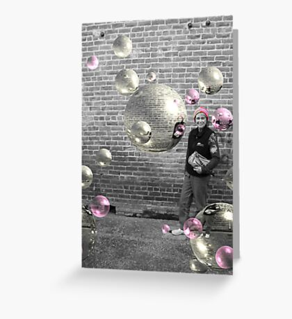 Mom and Bubbles Greeting Card