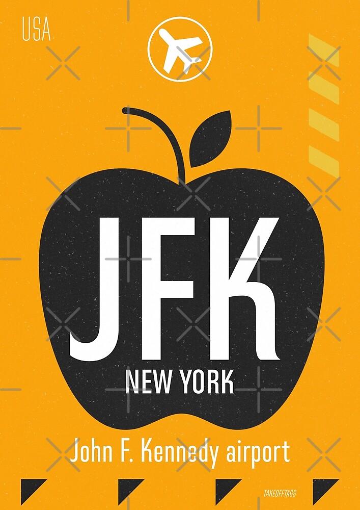 JFK orange design by Wanderlust ID