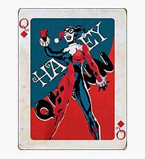 Queen Of Diamonds Harley Quinn  Photographic Print
