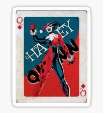 Queen Of Diamonds Harley Quinn  Sticker