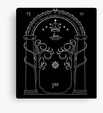 Lord of the Rings - Gates of Moria Ithilden Door Canvas Print