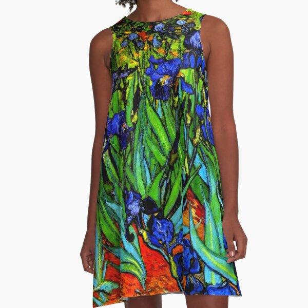 Van Gogh - Irises, famous painting A-Line Dress