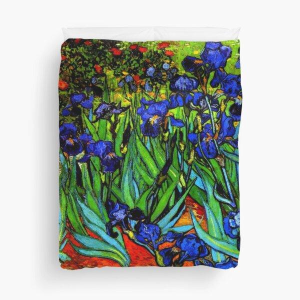 Van Gogh - Irises, famous painting Duvet Cover