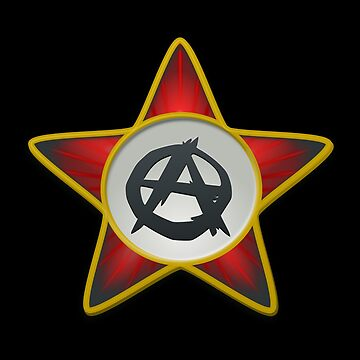Anarchist Red Star and Circle A Anarchy Symbol by iNukeDesign
