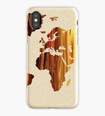Earthy Glow World Map Beautiful Planet iPhone Case/Skin