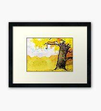 Calvin and Hobbes - Fall Break Framed Print