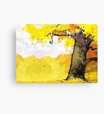 Calvin and Hobbes - Fall Break Canvas Print
