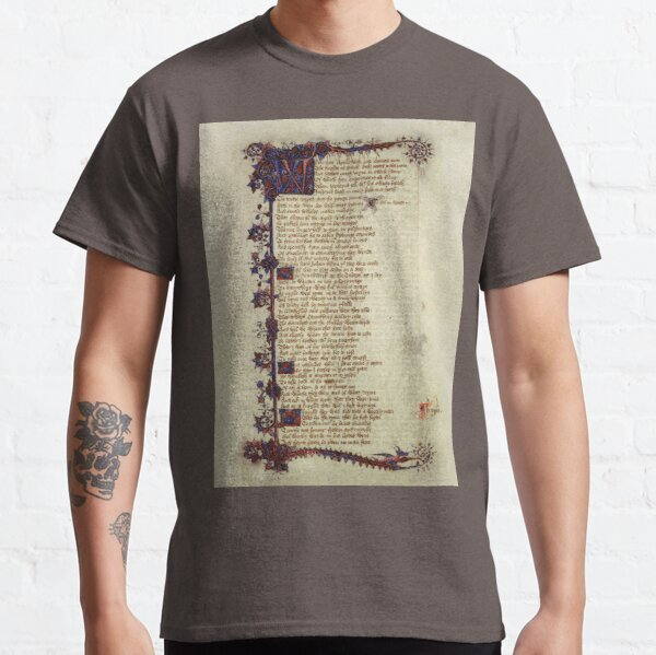 Ellesmere Chaucer - Canterbury Tales General Prologue Classic T-Shirt