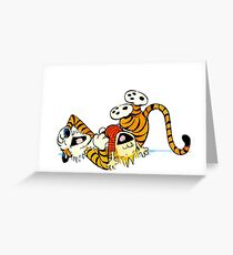 Calvin and Hobbes - Laughing Greeting Card