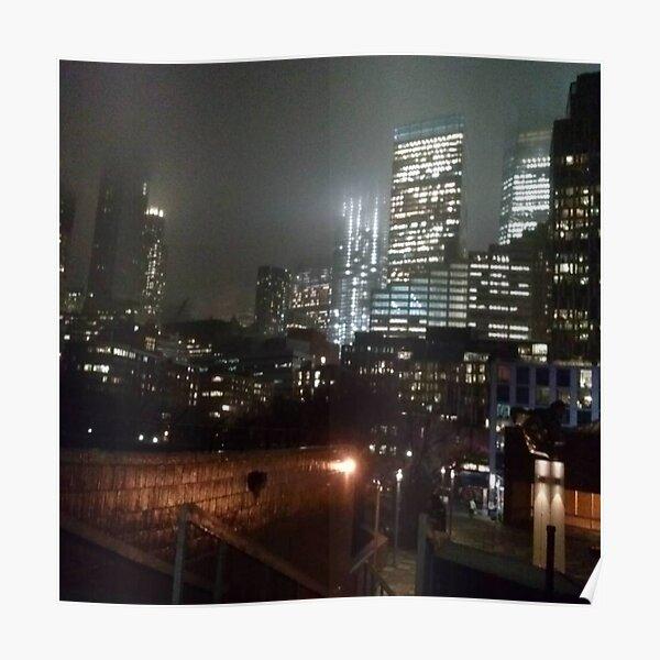 Night Lower Manhattan Poster
