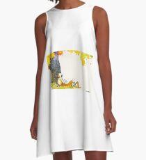 Calvin and Summer - Summer Vacation A-Line Dress