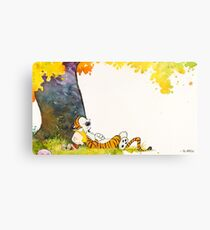 Calvin and Summer - Summer Vacation Metal Print