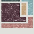 Abstract Geometry with Earth Tones Distressed Design by Denis Marsili