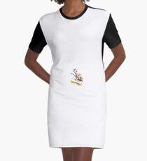 Calvin and Hobbes - Wagon Graphic T-Shirt Dress