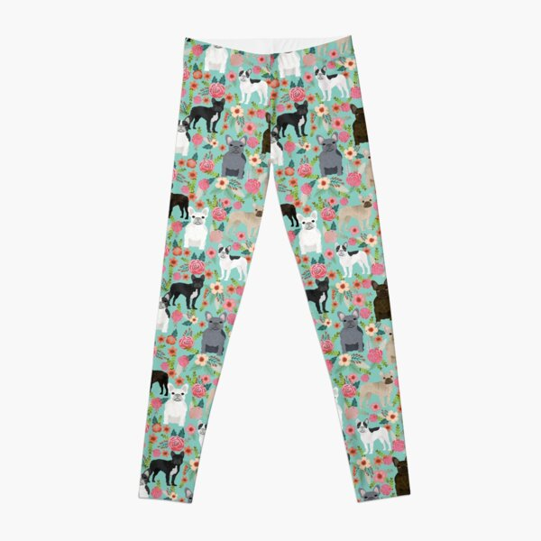 Frenchie floral french bulldog cute pet gifts dog breed must haves florals french bulldogs Leggings