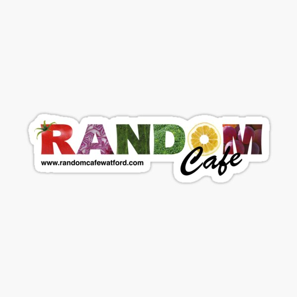 Random Cafe Logo Sticker