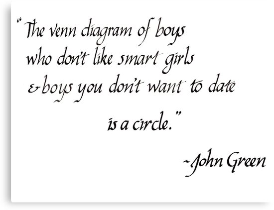 Advice On Dumb Boyfriends John Green Quote Canvas Prints By