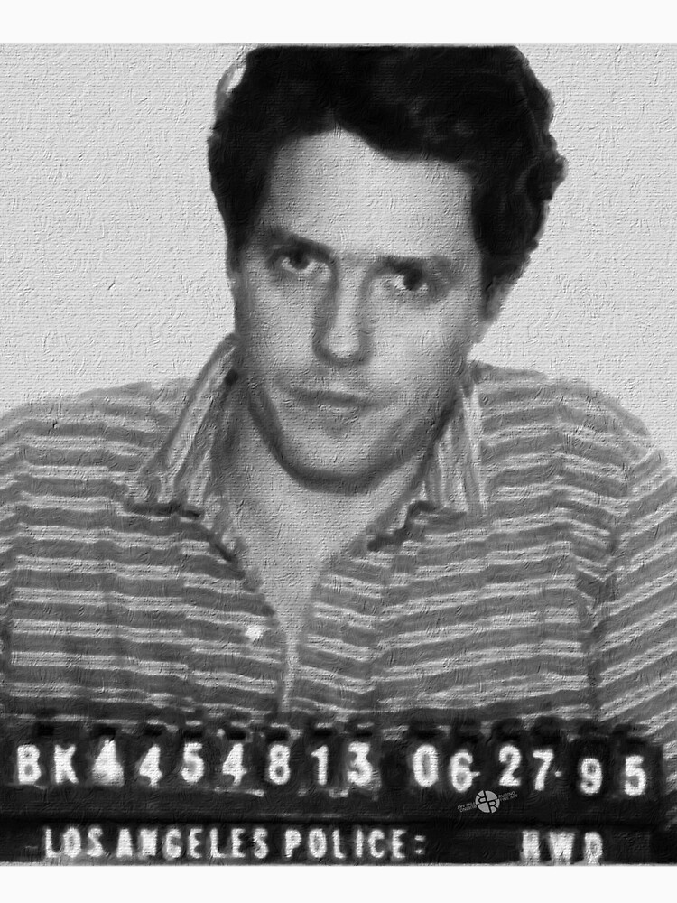 Painting of Hugh Grant Mug Shot 1995 Black And White Mugshot by RubinoCreative