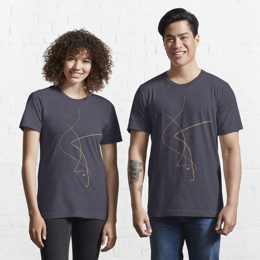 Kintsugi 2 #art #decor #buyart #japanese #gold #white #kirovair #design Essential T-Shirt