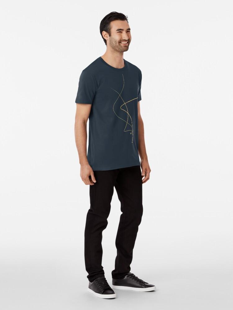 Vista alternativa de Camiseta premium Kintsugi 2 #art #decor #buyart #japanese #gold #white #kirovair #design
