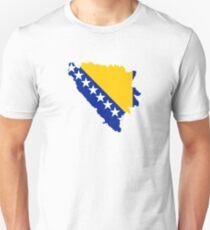 Flag Map of Bosnia & Herzegovina  T-Shirt