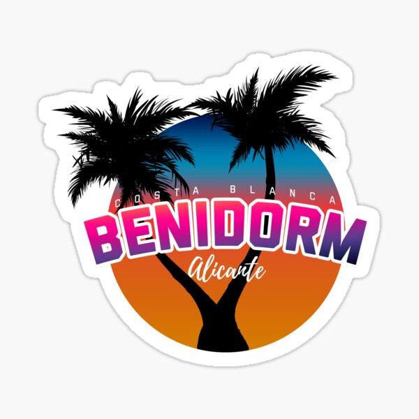 Benidorm Alicante Palms Pegatina