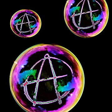 Circle A Soap Bubbles - Anarchy Symbol Shirt by iNukeDesign
