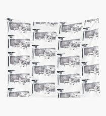 Hospital Bed Scene Wall Tapestry