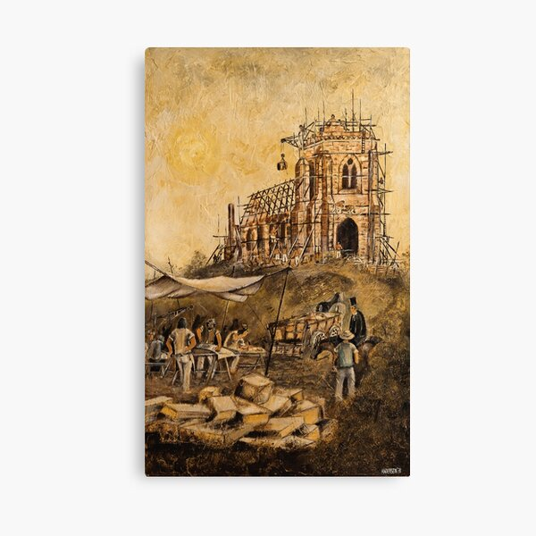 BUILDING ST.JOHNS CHURCH, RICHMOND Canvas Print
