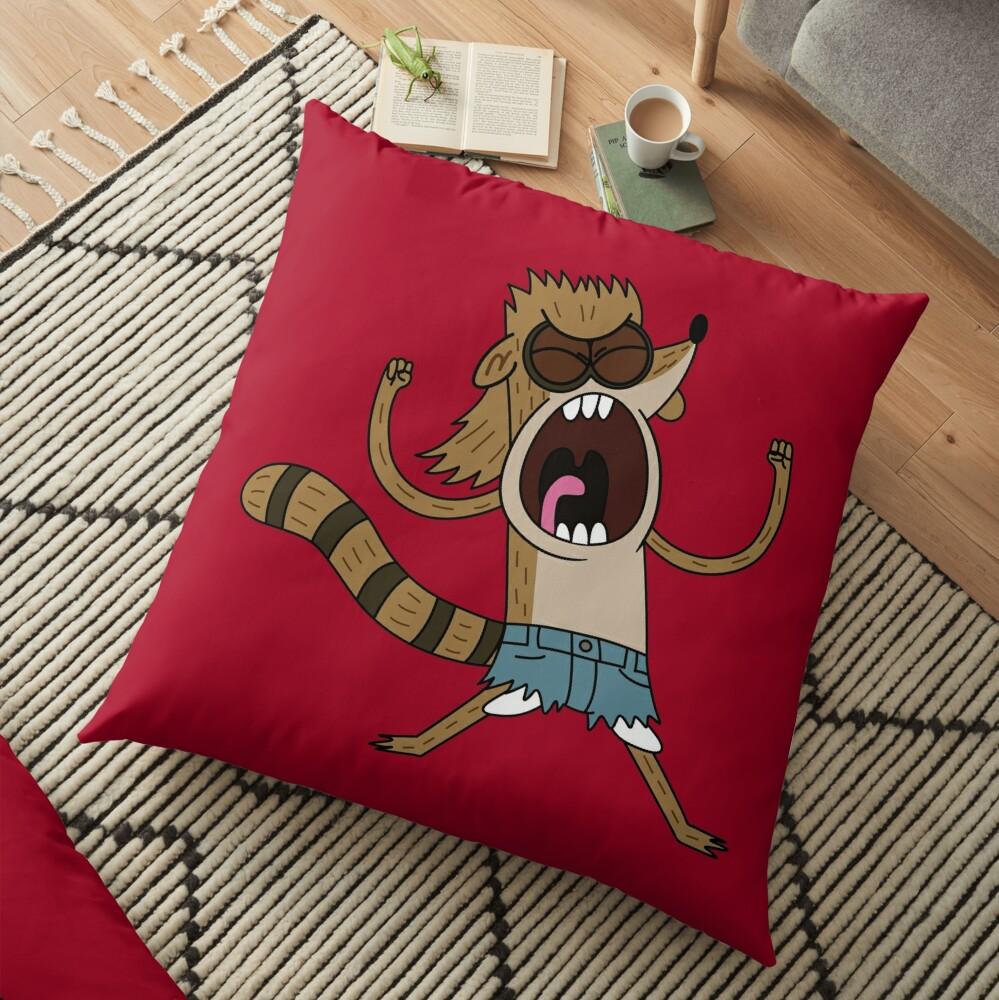 Rigby, The Death Kwon Do Freak Floor Pillow