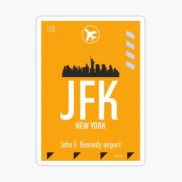 JFK yellow tag Sticker