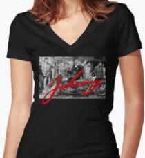 Johnny Rocker tribute Women's Fitted V-Neck T-Shirt
