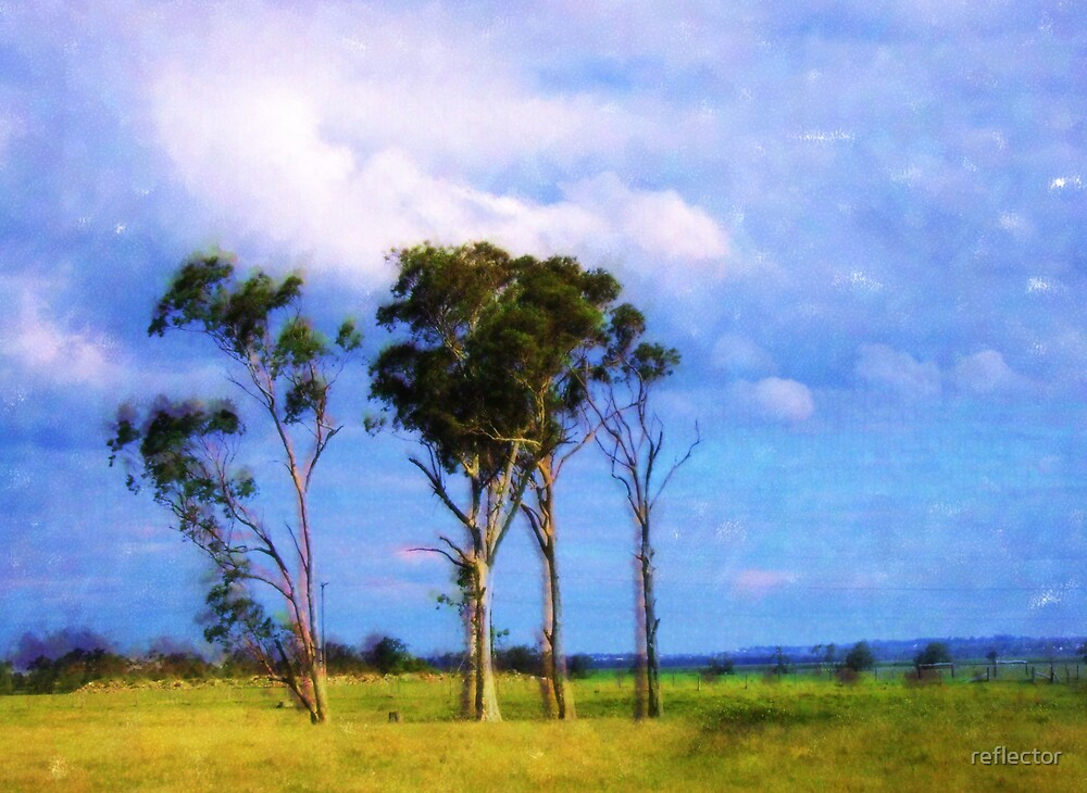 The Four Trees by reflector