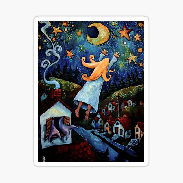 """""""Dream of Flying"""" by Chad Elliott Sticker"""