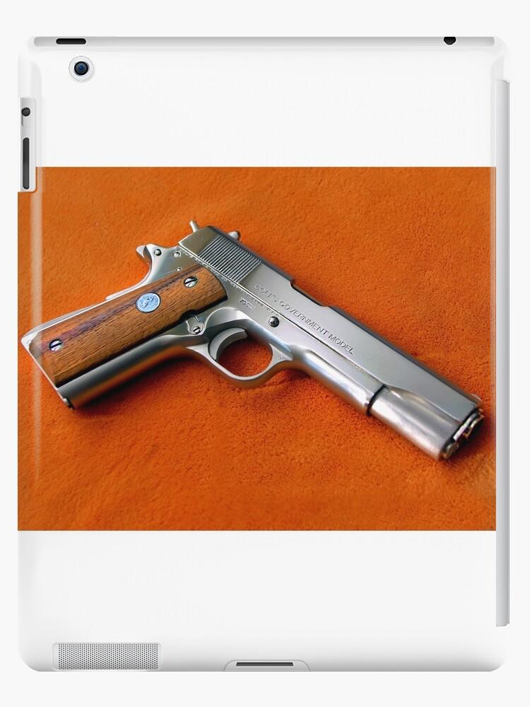 'Colt 1911 nickel finish' iPad Case/Skin by mitchcornacchia