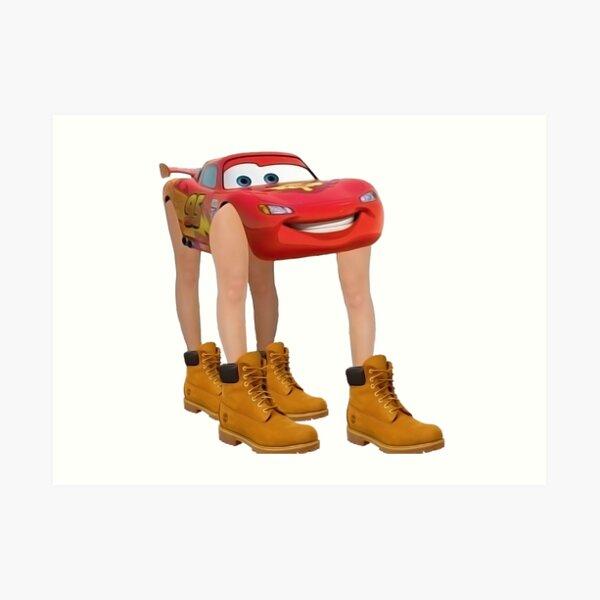 Lightning McQueen With Legs Art Print