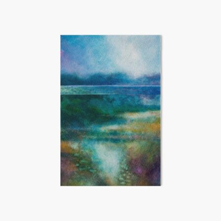 MISTY MORNING, GREAT LAKE Art Board Print