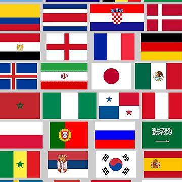 FOOTBALL SOCCER TEAM FLAGS 2018 by igorsin