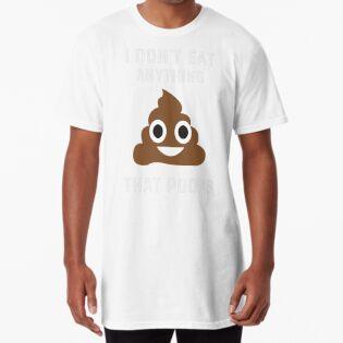 821b654f I Don't Eat Anything That Poops - Funny Vegan Vegetarian Shirt ...