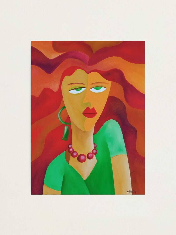 Alternate view of WOMAN WITH RED HAIR Photographic Print