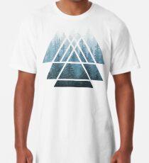 Heilige Geometrie-Dreiecke - Misty Forest Longshirt