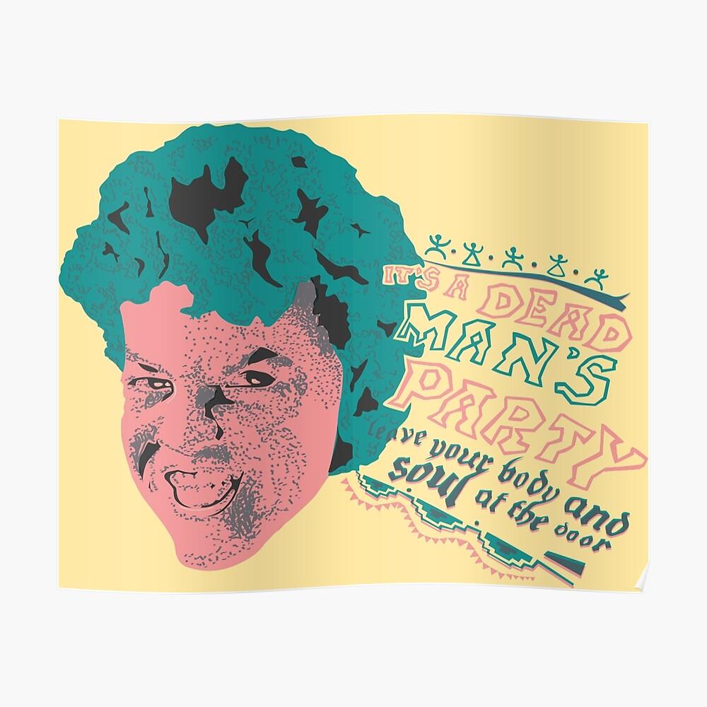 Canvas Danny Elfman of Oingo Boingo Singing Art print POSTER